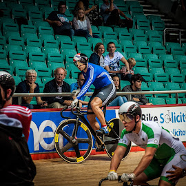 All eyes on me by Chris Hartley - Sports & Fitness Cycling ( #sport, #champion, #cycling, #trackcycling, #velodrome )