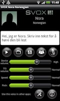 Screenshot of SVOX Norwegian Nora Trial