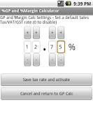 Screenshot of Free %Gross Profit Margin Calc