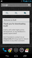 Screenshot of Draft