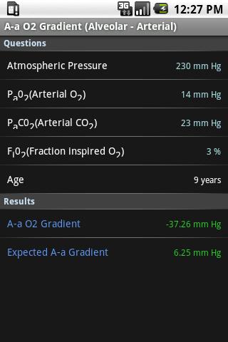 A-a Oxygen Gradient Calculator