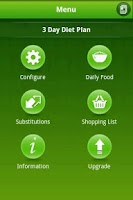 Screenshot of 3 Day Easy Diet app