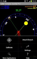 Screenshot of Qibla Sun & Moon Dial Compass