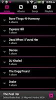 Screenshot of Pretty Music Player Pink