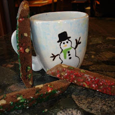 Christmas Low Fat White-Chocolate Walnut Brownie Biscotti