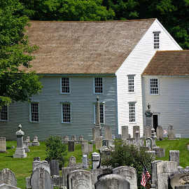Old German Church by Ernie Easter - Buildings & Architecture Public & Historical ( old german church, maine, colonial america meeting house, german, wladoboro, historic )