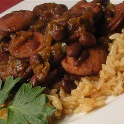 Slow Cooker Creole Black Beans and Sausage