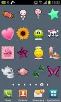 Screenshot of 100 Cute Girly Stickers ^_^