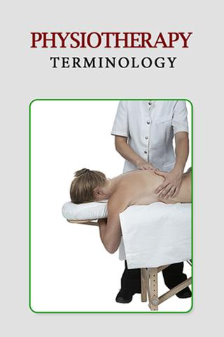 Physiotherapy Terms