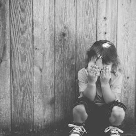 Hiding by Jenny Hammer - Babies & Children Children Candids ( bench, hiding, baby, cute, boy )