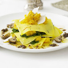 Open Ravioli With Squash & Porcini Mushrooms
