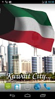 Screenshot of 3D Kuwait Flag Live Wallpaper