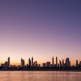 Panorama Of Dubai by Walid Ahmad - Landscapes Travel ( mydubai, towers, dubai, d800, uae, morning, landscape, nikon, photography, panorama )