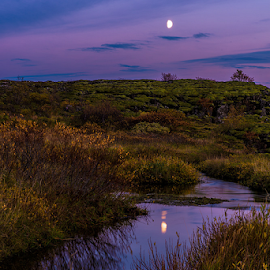 Þingvellir National Park by Roberto Melotti - Landscapes Waterscapes ( parliament, roberto melotti, moon, iceland, þingvellir national park, golden circle, nikon d810, pingvellir, alþingi, þingvellir )