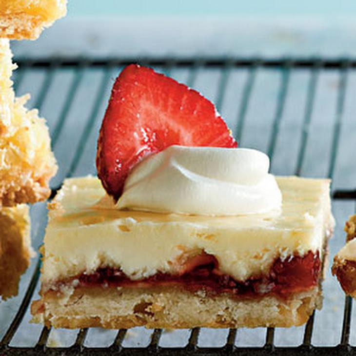 Strawberry-Lemon Shortbread Bars