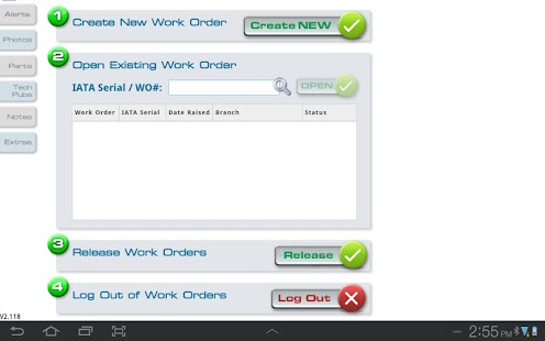 Electronic Work Orders - screenshot
