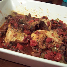 Roasted Chicken Cacciatore