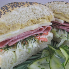 Salami, Havarti, and Cole Slaw  Sandwiches