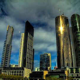 South Bank, Melbourne by Madhujith Venkatakrishna - City,  Street & Park  Skylines