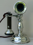 Candlestick Phones - Swedish American Potbelly Telephone