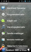 Screenshot of Handcent SMS Norwegian Languag