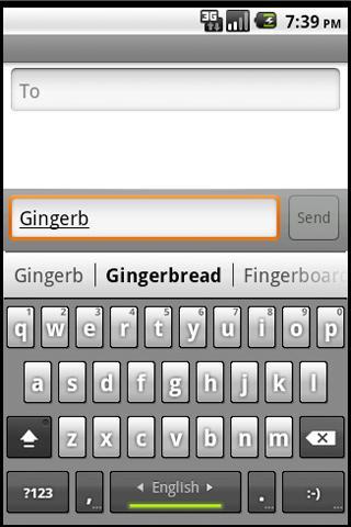 Gingerbread SenseMod Keyboard