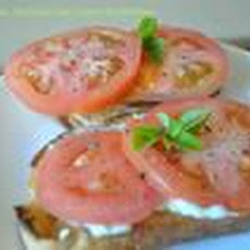Grilled Tomato, Basil, and Goat Cheese Sandwiches