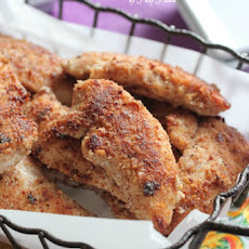 Almond Parmesan Crusted Chicken Tenders