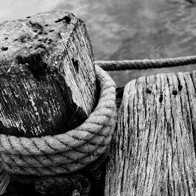 Wood and Rope by Henry Suwardi - Black & White Objects & Still Life (  )