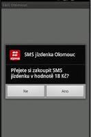 Screenshot of SMS Jízdenka Olomouc