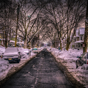 All Clear... by Pope  Africanas - City,  Street & Park  Street Scenes ( hdr, snow, street, nj )