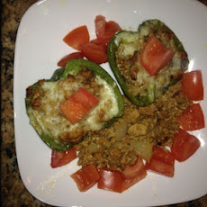 Stuffed Green Pepper 'Tacos'