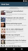 Screenshot of Umeå Open