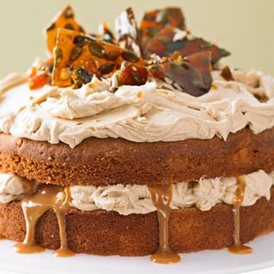 Dulce De Leche Cake With Pumpkin Seed Brittle