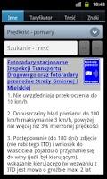Screenshot of Przepisy drogowe