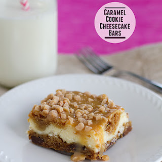 Caramel Cookie Cheesecake Bars
