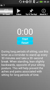 Sit-Stand Reminder - screenshot
