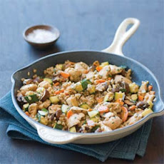 Chicken with Barley and Mushrooms