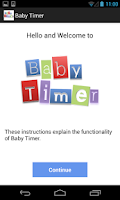 Screenshot of Newborn Baby Timer
