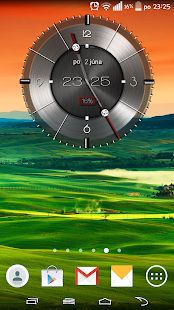 Metallic clock widget - screenshot
