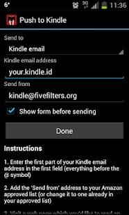Push to Kindle Screenshot