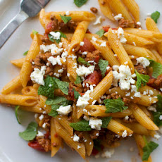 Penne with Spicy Lamb Sauce