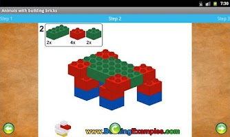 Screenshot of Animals with building bricks