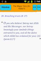 Screenshot of Major Sins In Islam