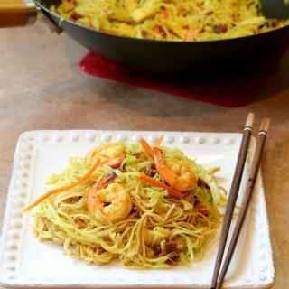 Spicy Stir Fried Singapore Noodles