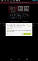Screenshot of South Carolina Live Clock