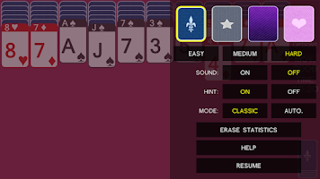 Screenshot of iSpider - spider solitaire