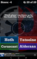 Screenshot of Star Wars Quiz