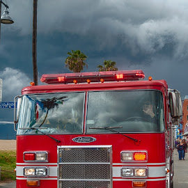 Venice Beach Fire Truck by Thierry Mallet - Transportation Other