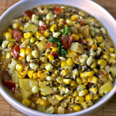 Dinner Tonight: Corn, Tomato, and Potato Curry